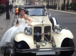 Vintage Beauford for weddings in Cheshunt